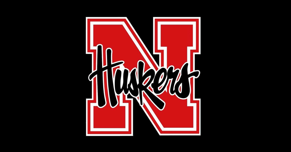 Husker logo, red n with the word husker overlaid in the middle.